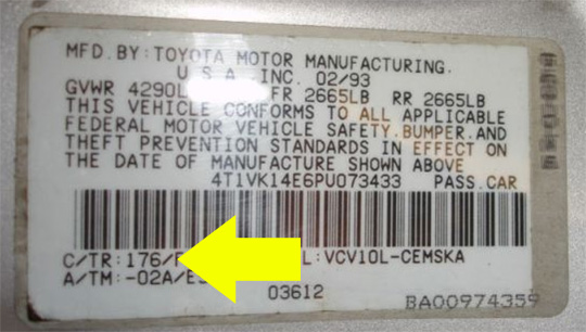 toyota corolla touch up paint