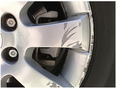 scratched wheel