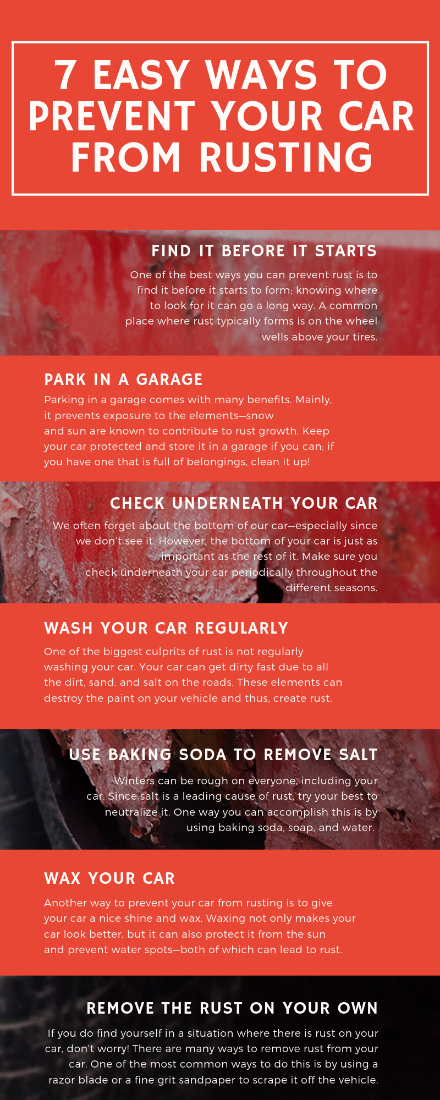 ways to prevent your car from rusting